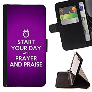 Momo Phone Case / Flip Funda de Cuero Case Cover - BIBLIA Comienza tu día con una oración; - Samsung Galaxy S4 Mini i9190