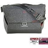 Peak Design Everyday Messenger Bag 15 Charcoal Schultertasche (Fototasche) für 1 DSLR-Kamera, 2-3 Objektive, 1 15-Zoll-Notebook, 1 Stativ und Zubehör (dunkelgrau)