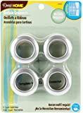 Dritz 44373 Curtain Grommets, Satin Nickel, 1-Inch, 8-Pack