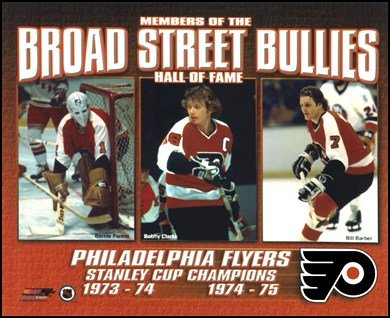 Broad Street Bullies- Bernie Parent, Bobby Clarke Bill Barber Art Poster Print Unknown