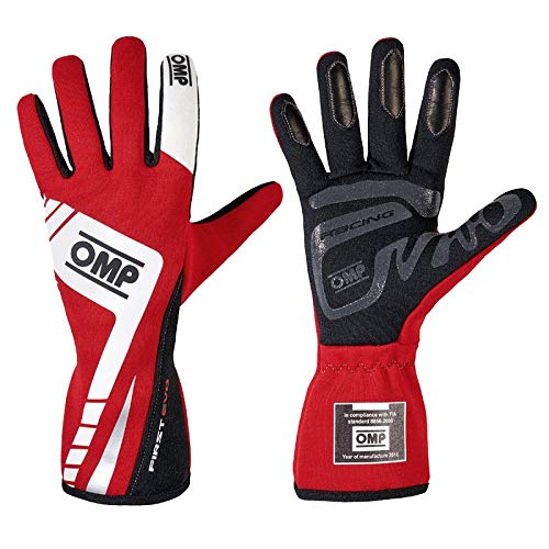 OMP IB/757E/R/S First Evo Gloves, Red, Small (MY2016)