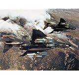F-4E Phantom With Missiles Jet Aviation Wall Decor Art Print Poster (16x20)