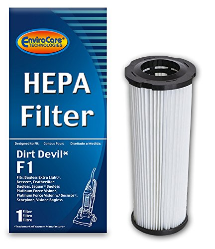 EnviroCare Replacement HEPA Vacuum Filter for Dirt Devil F1 Uprights