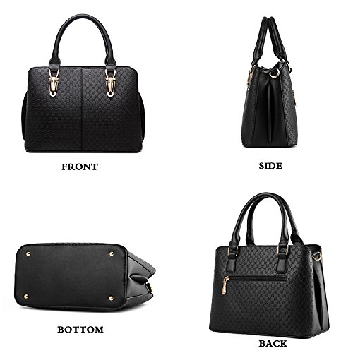 Women Black Tcife Satchel Shoulder Purses Handbags Bags For Tote And SXaSB