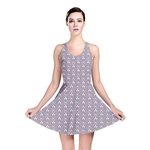 Jogja Women's Bunny Heads Reversible Skater Dress, Purple - 3XL