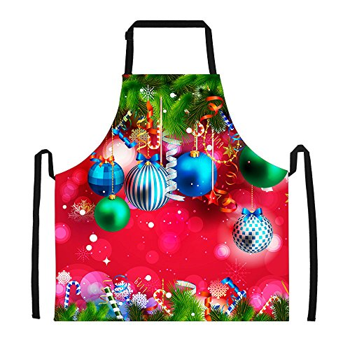 (Horeset Aprons Personalized with Pearl World Print Halloween Thanksgiving Christmas Design for Lady's Kitchen Cooking Apron Dress Gift)