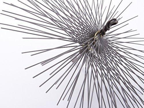 Schornsteinbesen Rechteckig Kaminbesen aus Stahl Ru/ßbesen Schornsteinfegerbesen 16 x 28cm