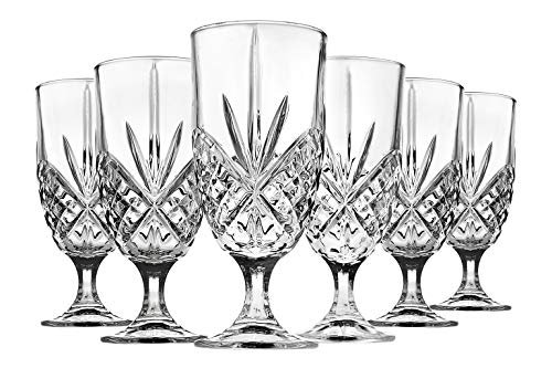 (Iced Tea Beverage Glasses Dublin by Godinger - Set of 6 )