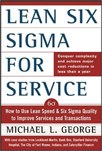 amazon com lean six sigma for service how to use lean speed and