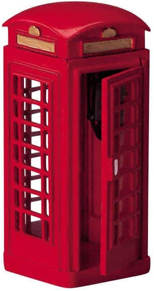 Lemax Village Collection Christmas London Red Metal Phone Booth 44176