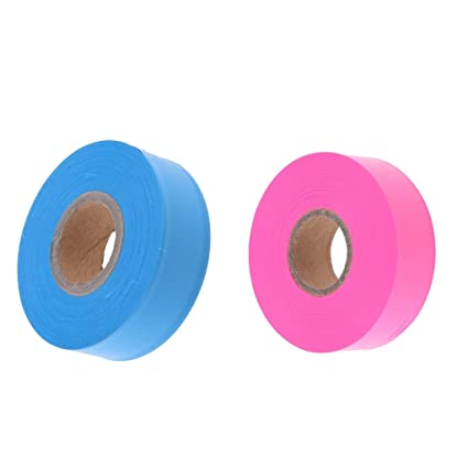 Absperrband Warnband Gefahr Warnung Nicht Klebend Orange // Rosa // Blau 2.5cm
