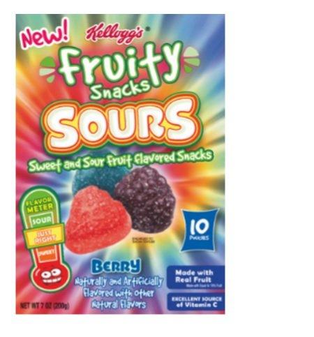 Kellogg's Fruity Snacks Sours Berry 7oz