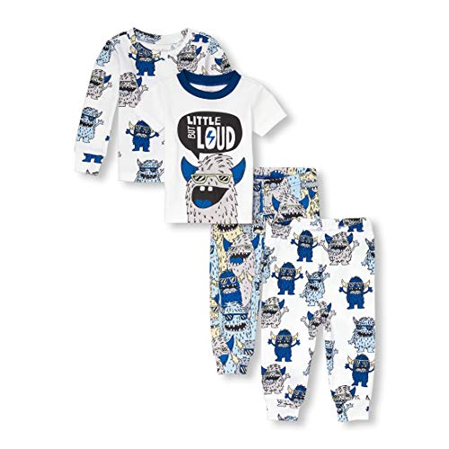 The Children's Place Baby Boys 3 Pack Novelty Printed Variety Pajama Set, White, 3-6MONTHS]()