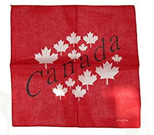 """Wholesale Lot 622""""x22"""" Canadá hoja de arce canadiense letras rojo Bandana"""