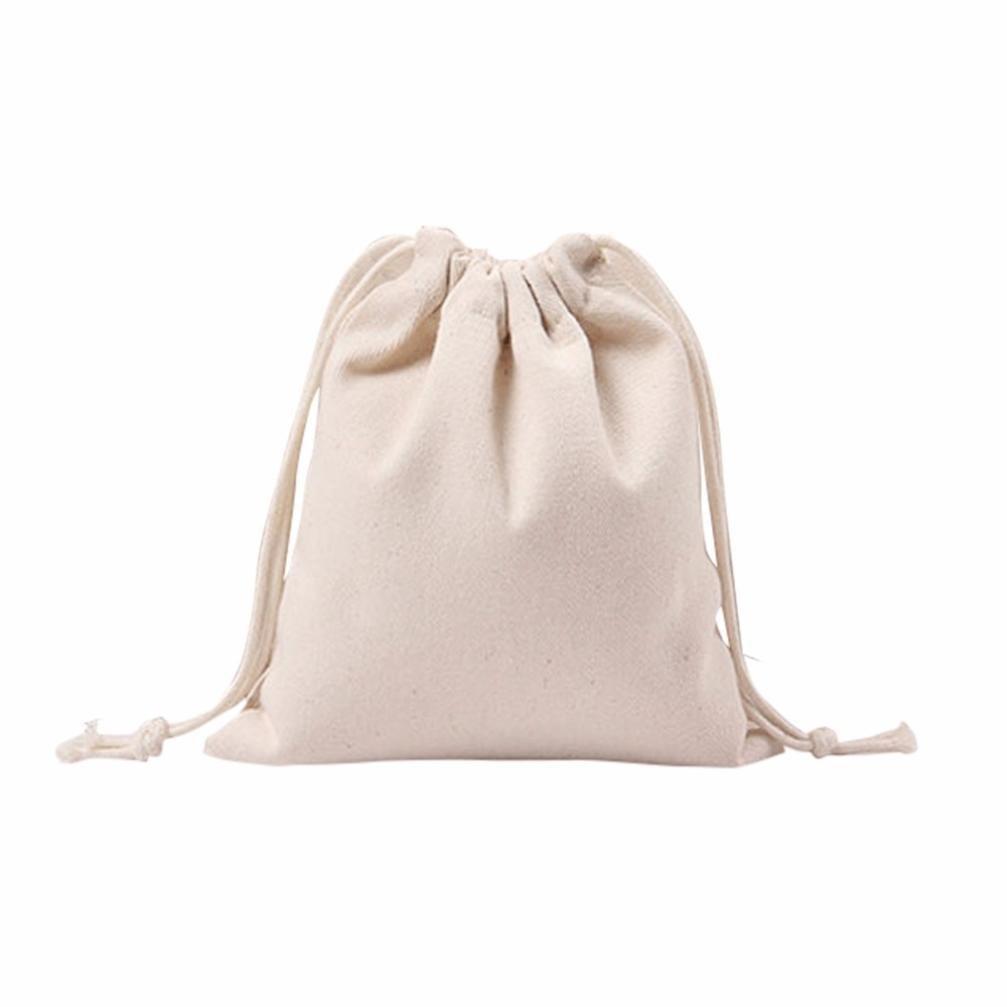 クリアランス!ホワイト巾着バッグ袋パック梁ポートショッピングバッグ旅行バッグギフトバッグ Small  B07FJR1RM2