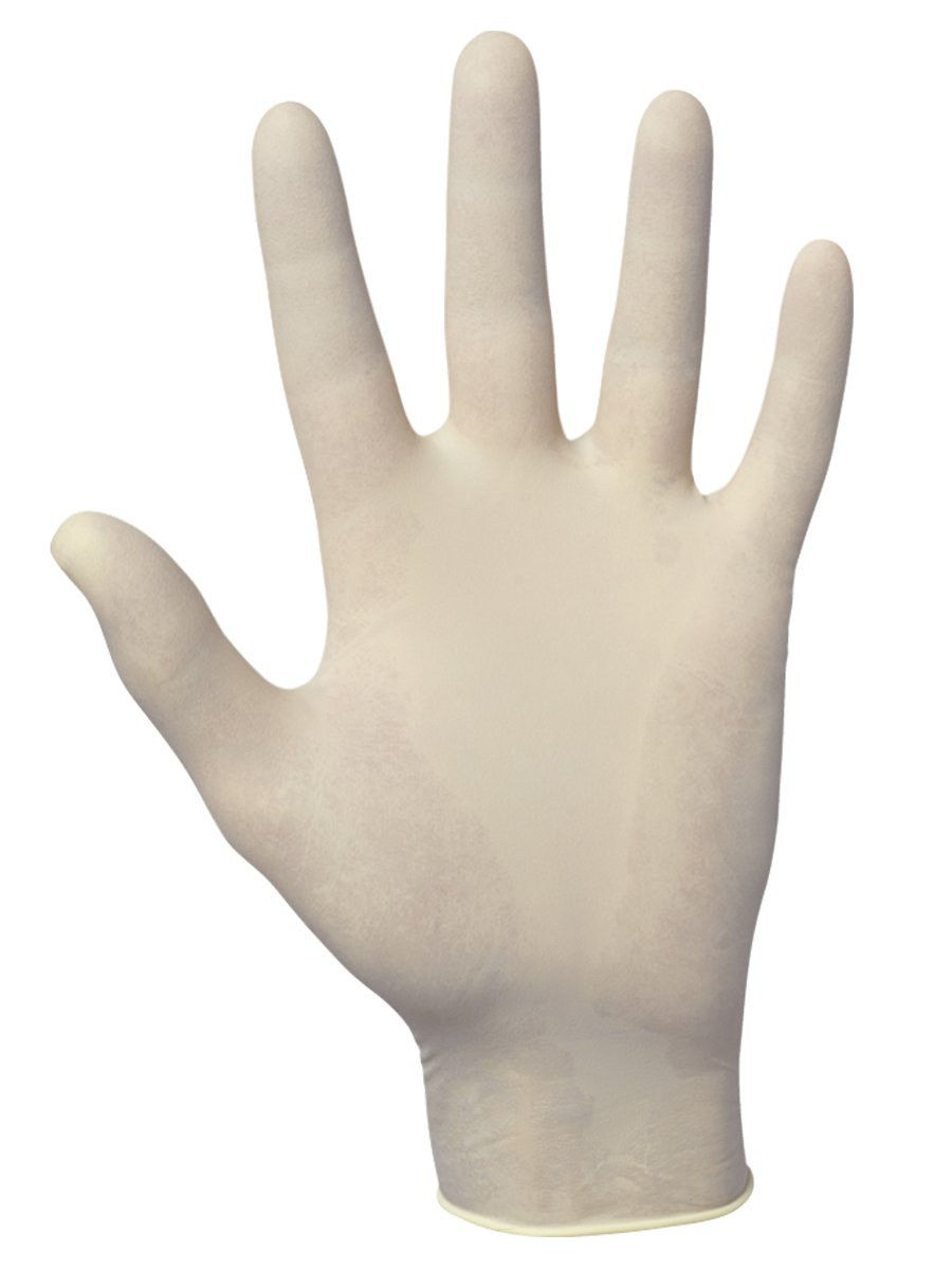 SAS Safety 6593-20 Value-Touch Powder Free Disposable Latex 5 Mil Gloves, Large, 100 Gloves by Weight