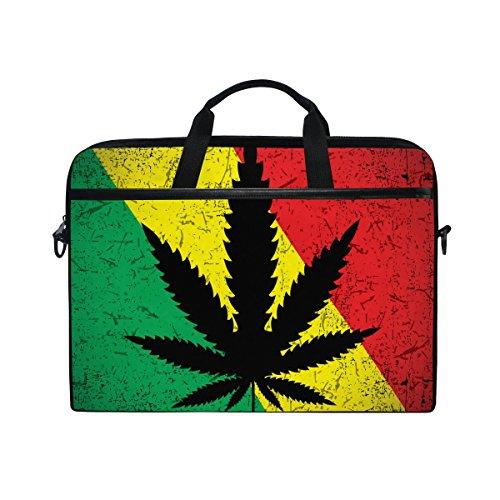 yzgo 1515.6inch portafolios para portátil, hoja de Cannabis en Grunge bandera rastafari impresión computadora portátil...