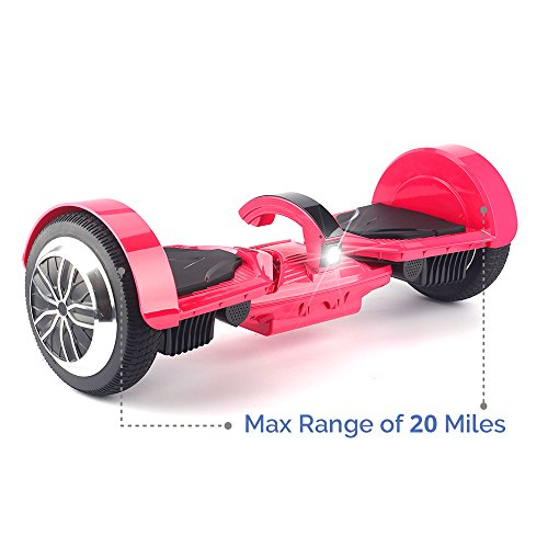Levit8ion ULTRA 7.5″ Hoverboard – Self Balancing 2 Wheel Electric Scooter – UL Certified & Detachable Samsung Battery, Bluetooth, App And LCD Screen (Rose)