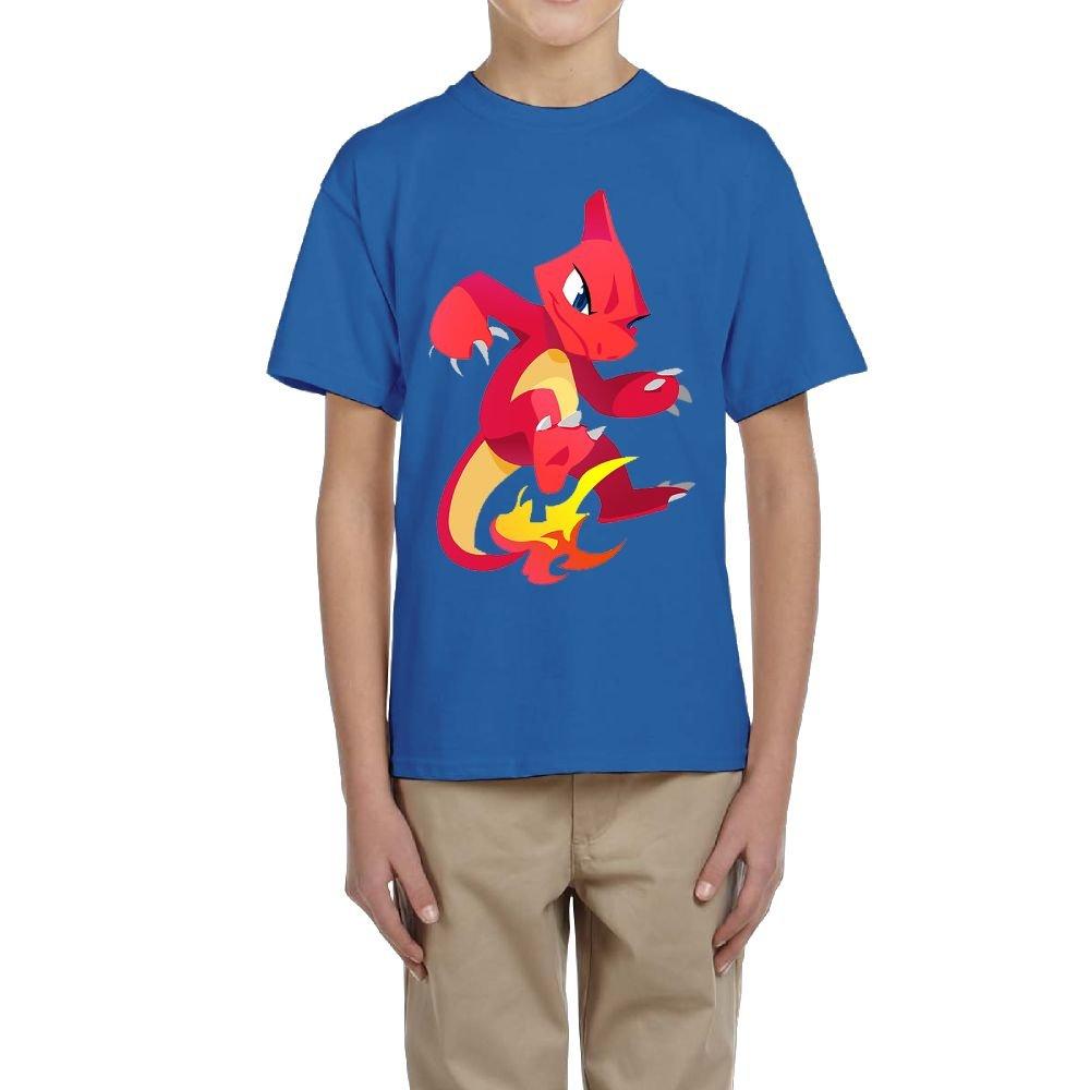 Aidear Boys & Girls Charmeleon Pokemon Tshirt S