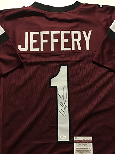Autographed/Signed Alshon Jeffery South Carolina Gamecocks Football Jersey JSA COA (Gamecocks South Football Carolina Replica Jersey)