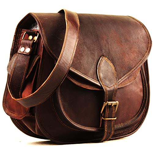 (Leather Crossbody Purses Bags For Women | Small Vintage Look Leather Purses And Handbags For Women | Leather Satchel For Women | Diaper Bag for Ladies)