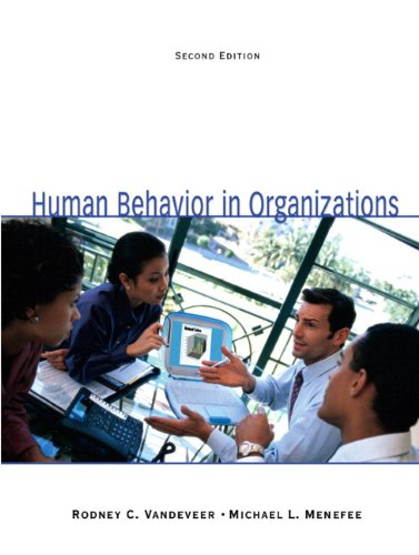Human Behavior in Organizations (with Self Assessment Library 3.4) (2nd Edition)