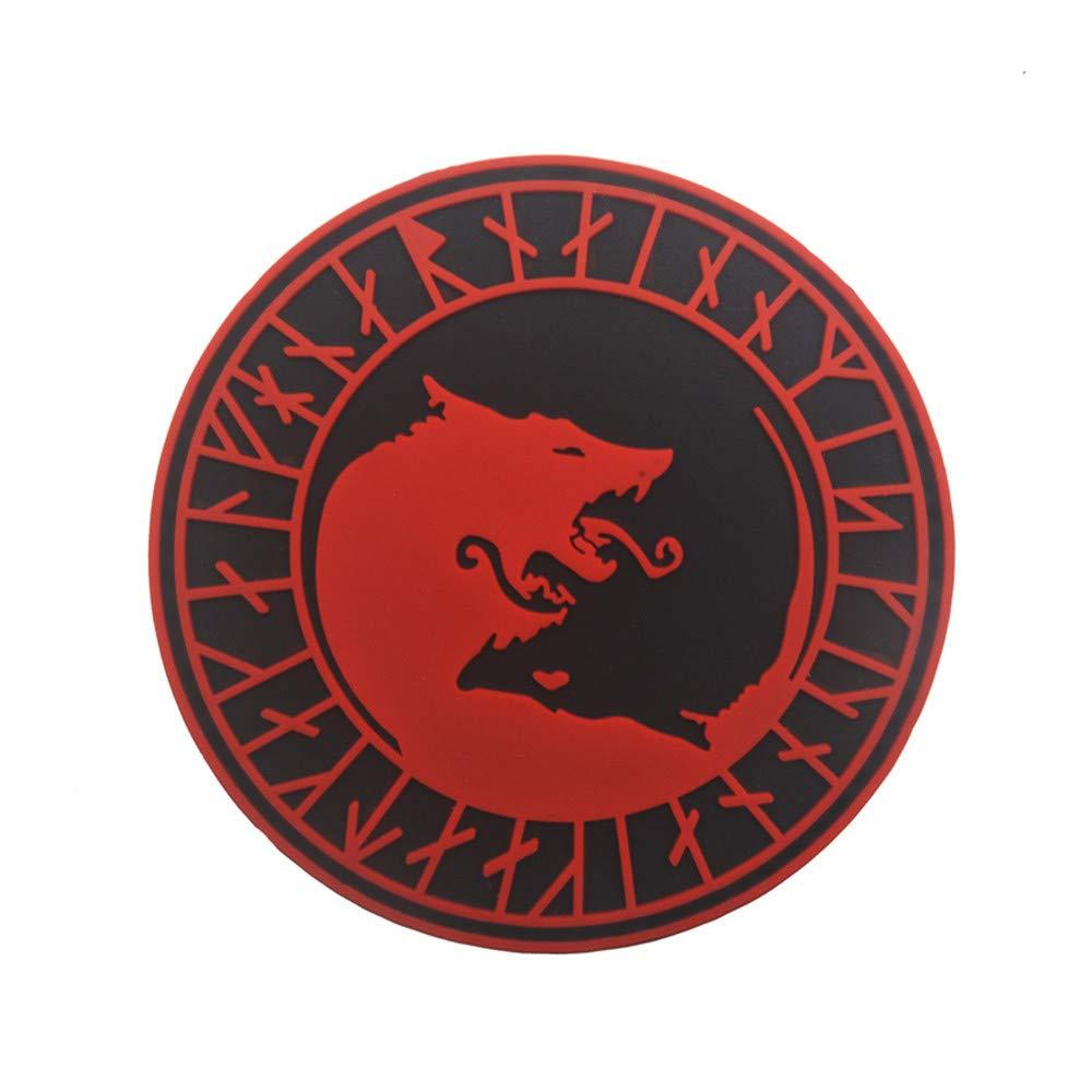 HARRYSTORE Viking Wolf Patch Taktische Helle Pflaster Flagge Magie Aufkleber Marke Dekoration