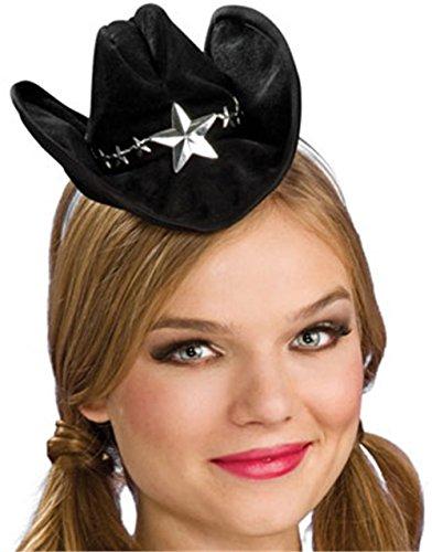 Mini Black Cowboy Hat Womans Halloween Costumes