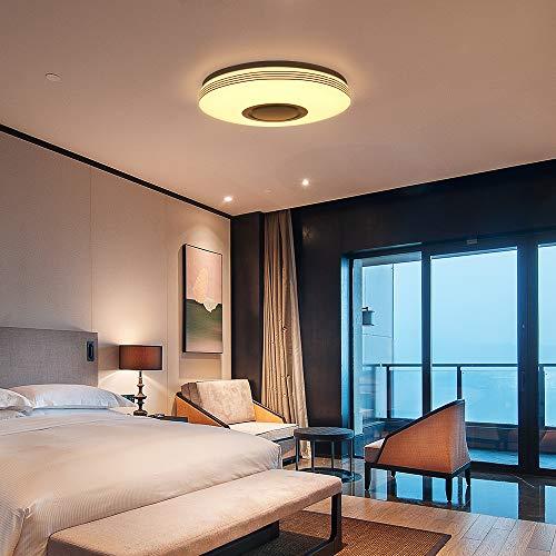 Bluetooth Speaker Licht Plafond, Nullnet 36W LED Smart Muziek Plafondlamp Dimbare RGBW Kleur Veranderende Licht met…