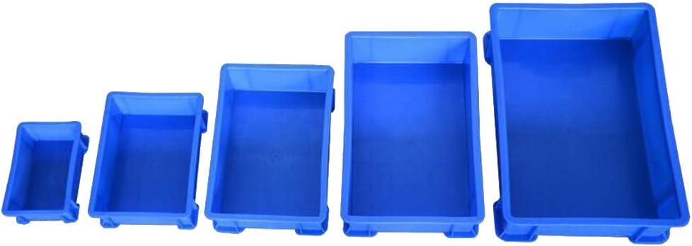 YOFASEN Cajas de Almacenaje Plastico - Apilable Cajas de Almacenaje Plastico para Almacén y Transporte, 5Pcs-Azúl, 10+9+8+7+6: Amazon.es: Hogar