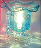 Electric Glass Oil Burner: Blue