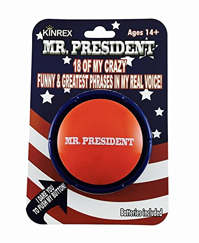 KINREX Mr. Trump Funny Gag Gifts – Mr. President Talking Button Sound Button – Funny Features Noise Maker With 18 Crazy Phrases