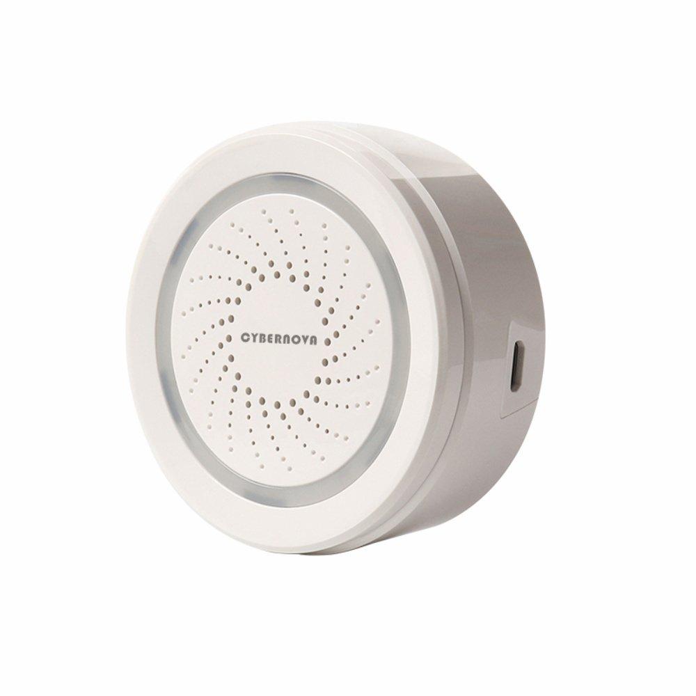 CYBERNOVA Smart Home Serie-WiFi Wireless USB Alarmsirene, arbeitet mit Alexa Echo und Google Home IFTTT