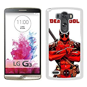 Popular And Unique Custom Designed Case For LG G3 With Deadpool 1 White Phone Case