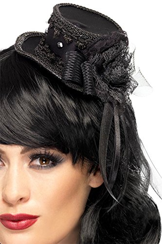 Smiffys Womens Gothic Mini Top Hat Fascinator Import It All