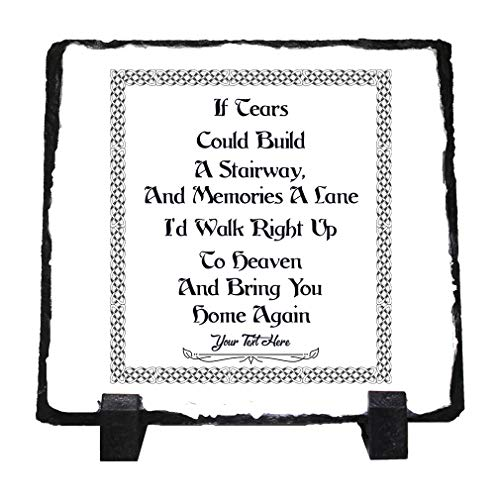 Custom Home Decor Stone Slate Plaque Celtic Knot Memorial If Tears Co... Photo Picture Frame