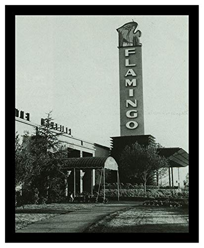 Studio Release Framed 8 x 10 Photo Original Flamingo Hotel Casino Built by Bugsy Seagal Gangster Mobster
