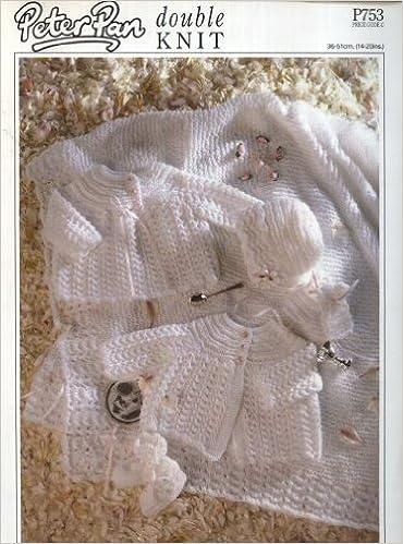 Peter Pan Knitting Pattern 753 Baby Lacy Layette Shawl Matinee