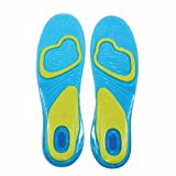 Zooarts 1 pair Gel Orthotic Work Sports Running Insoles For Women Men (Men(UK 8-13))