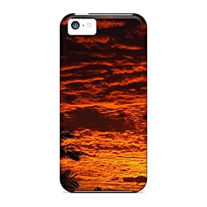 Richavans Case Cover For Iphone 5c - Retailer Packaging Fire Sky Protective Case
