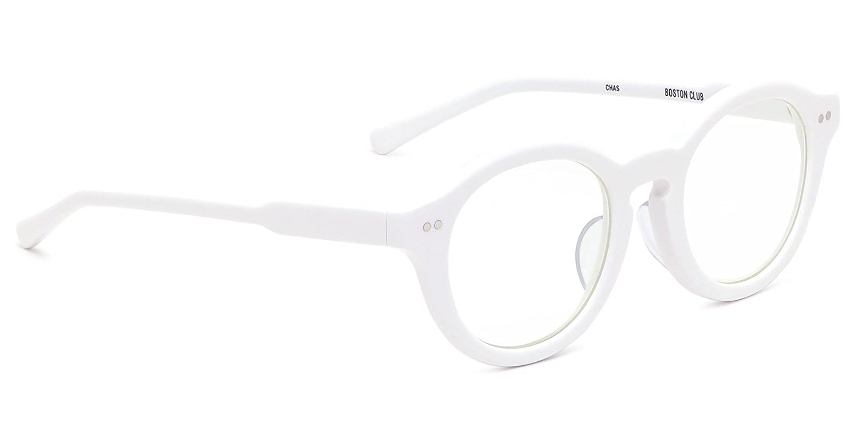 CHAS 04 48サイズ BOSTON CLUB (ボストンクラブ) メガネ 伊達メガネレンズ付き チャス 日本製 MADE IN JAPAN クラシック レトロ モダン ラウンド キーホールブリッジ メンズ レディース B07FSFNKNV ダテメガネ用レンズ(度なし、UVカットつき) ダテメガネ用レンズ(度なし、UVカットつき)