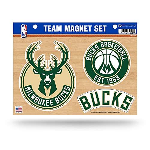 NBA Milwaukee Bucks Die Cut Team Magnet Set Sheet