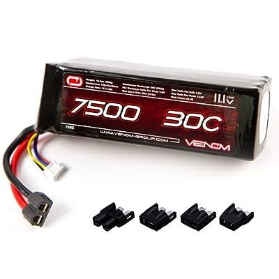 Venom 30C 3S 7500mAh 11.1V LiPo Battery with Universal Plug (EC3/Deans/Traxxas/Tamiya)