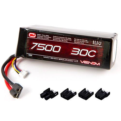 Venom LiPo Battery for Traxxas Rustler 30C 11.1V 7500mAh 3S