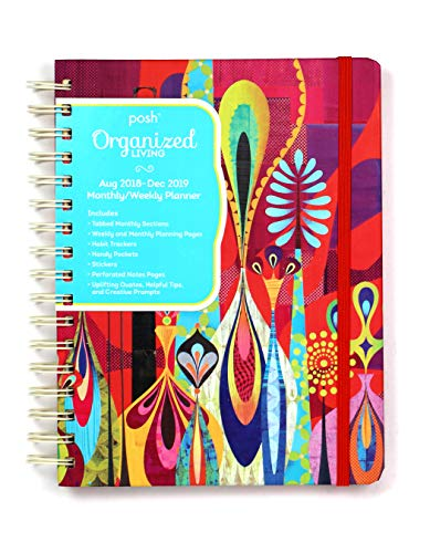 Posh: Organized Living 2018-2019 Monthly/Weekly Planning Calendar: Red Rapture from Andrews McMeel Publishing