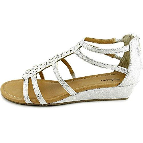 Style & Co. - Sandalias de vestir para mujer plata