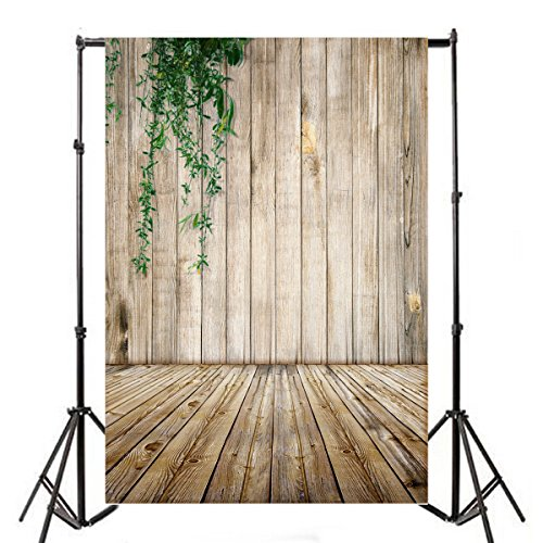 OFILA Wood Backdrop 3x5ft Plank Floordrop Green Twigs Interior Decoration Party Event Background Newborn Baby Theme Photos Model Blogger Photography Food Cookies Products Shoots Kids Toddlers - Twigs Monochrome