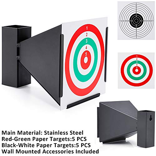 (Pellet Gun Target With 10 PCS Paper Shooting Targets- Cone Designed-Avaliable Wall Mounted For Indoor Outdoor)
