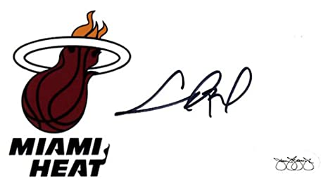 766b93dbc9e Chris Bosh Signed Miami Heat Logo Index Cards - JSA Certified - NBA Cut  Signatures