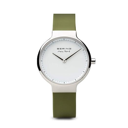 BERING Reloj Analogico para Mujer de Cuarzo con Correa en Silicona 15531-800: Amazon.es: Relojes